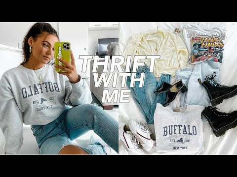 THRIFT WITH ME + HUGE CLOTHING HAUL (try-on) from YouTube · Duration:  13 minutes 38 seconds