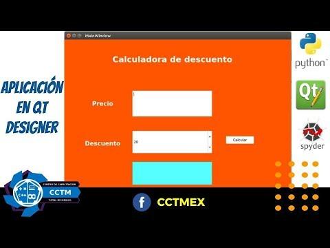 Calculadora descuentos en QT Designer| P3 | Python | (¡Muy básico!)