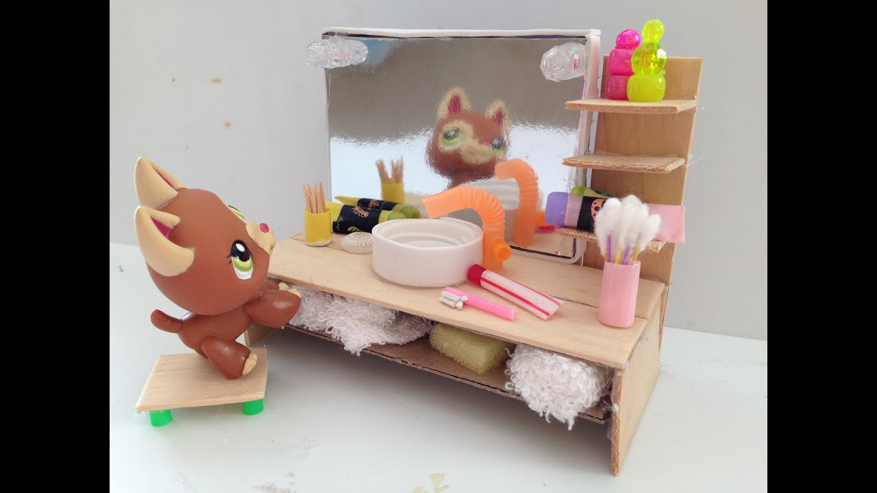 How To Make A LPS Bathroom Vanity U0026 Accessories   YouTube