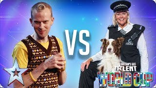Jules & Matisse vs Robert White | Britain's Got Talent World Cup 2018