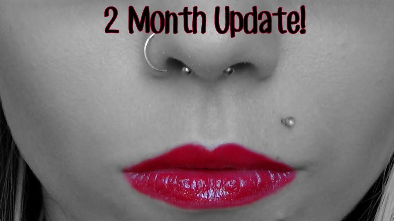 Septum Piercing 2 Month Update Breeann Barbie Youtube