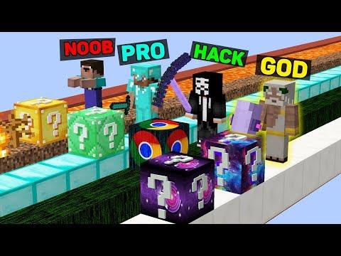 Minecraft NOOB vs PRO vs HACKER vs GOD : SUPER LUCKY BLOCK BATTLE in Minecraft thumbnail