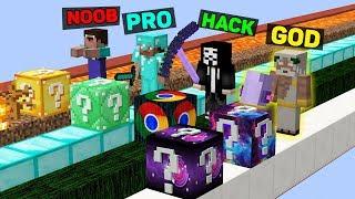 Minecraft NOOB vs PRO vs HACKER vs GOD : SUPER LUCKY BLOCK BATTLE in Minecraft