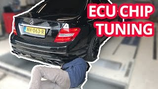 ECU CHIP TUNING NASIL YAPILIR? / MERCEDES C63 AMG / DYNO WITH SOUND/ TEST RUN