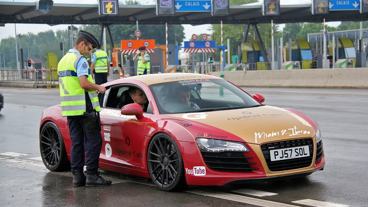 Audi From Supercars Of London Pulled Over By The French Police