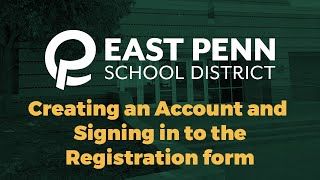 New Student Registration Account Creation & Sign In