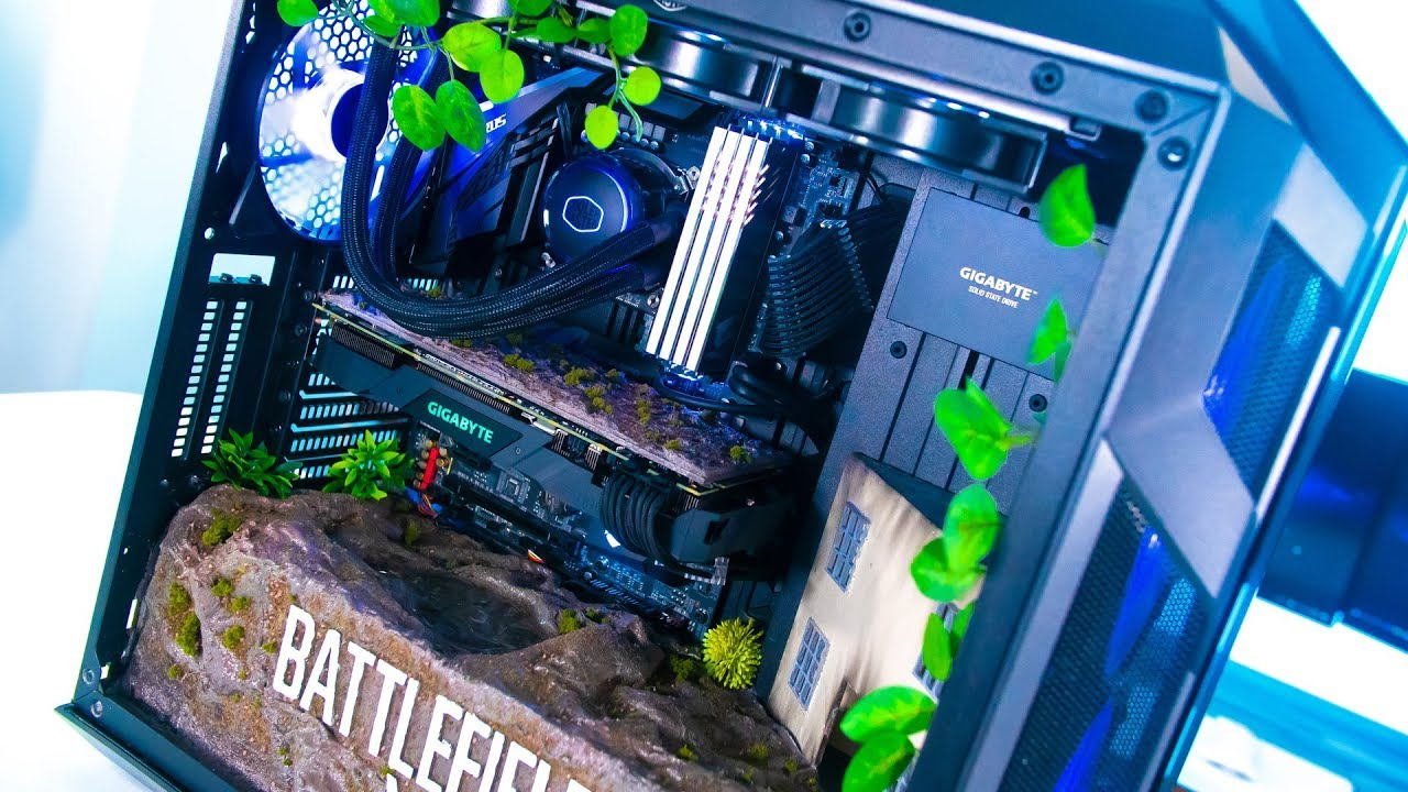 CRAZY RTX Custom Gaming PC Build - Time Lapse Battlefield ...