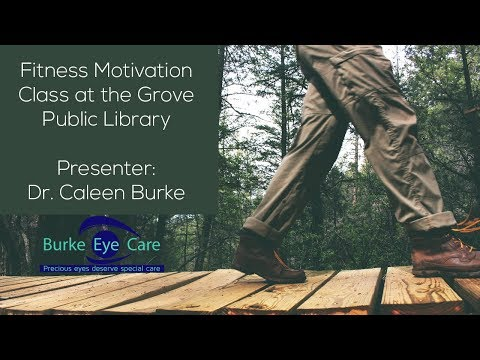 Fitness Motivation Class at the Grove Public Library in Grove Oklahoma
