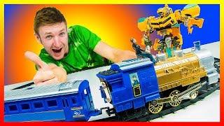 Видео Трансформеры: Бамблби - лучший автобот. Ремонт железной дороги. Поезд Мультик для мальчиков