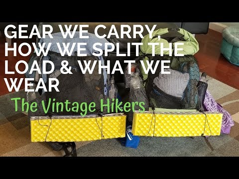 Appalachian Trail NOBO 2020 Prep Gear, How We Split The Load & What We're Wearing 300+ Days Out