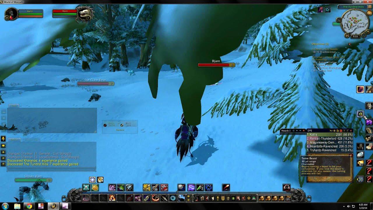 World Of Warcraft Rare Hunter Pet Locations Dun Morogh Youtube