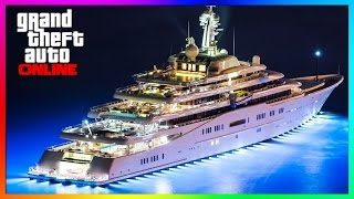 GTA 5 Online NEW Luxury Mega Yacht Tour! -