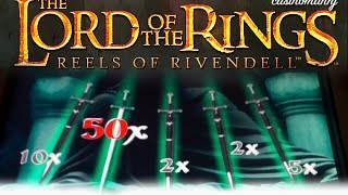 Lord of the Rings - HUGE MULTIPLIER! - BIG WIN!!! - MAX Bet! - Slot Machine Bonus