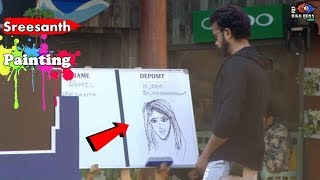 Bigg Boss 12 : Sreesanth Draw A Beautiful Picture Of A Girl In BB 12 House | Day 80 | BB 12 |