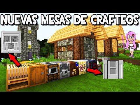 NUEVAS Mesas De Crafteo En Minecraft 1.14 🎨