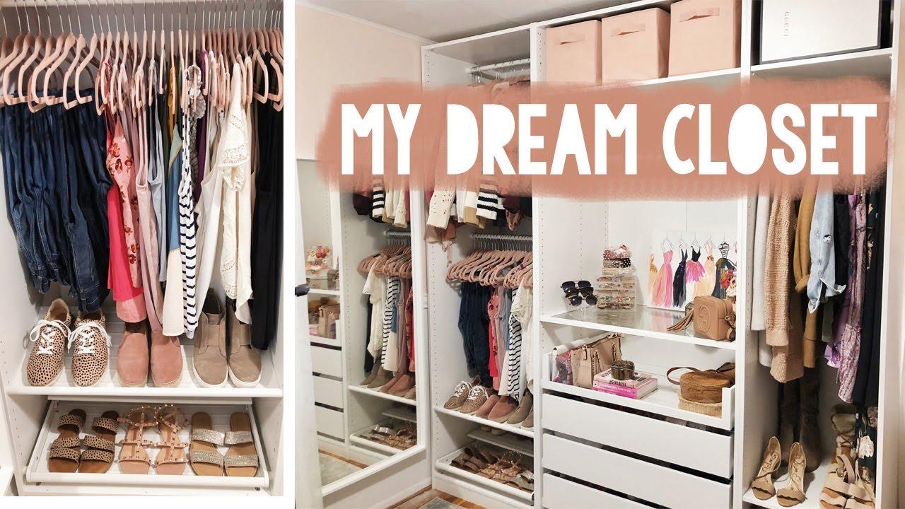Building My Custom Ikea Pax Closet Organize With Me Sarah Brithinee Youtube