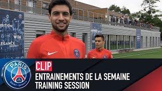 Training session - entraÎnements de la semaine with javier pastore