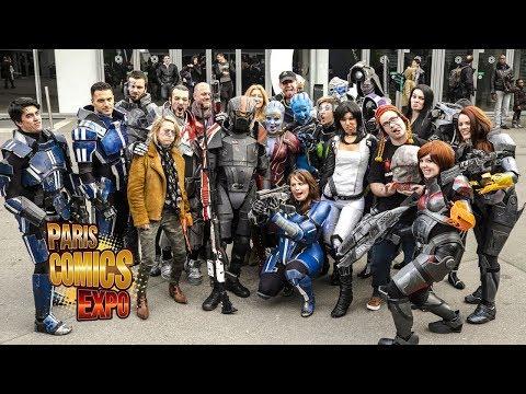 Vidéo Paris Comics Expo Cospro Mass Effect Event 2014