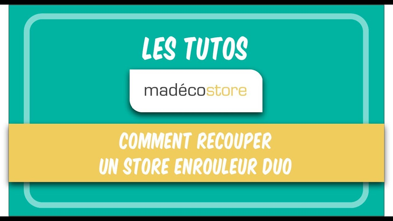 recoupe store enrouleur comment recouper un store enrouleur duo youtube. Black Bedroom Furniture Sets. Home Design Ideas