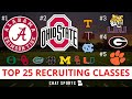 College Football Signing Day: Top 25 Recruiting Classes For 2021