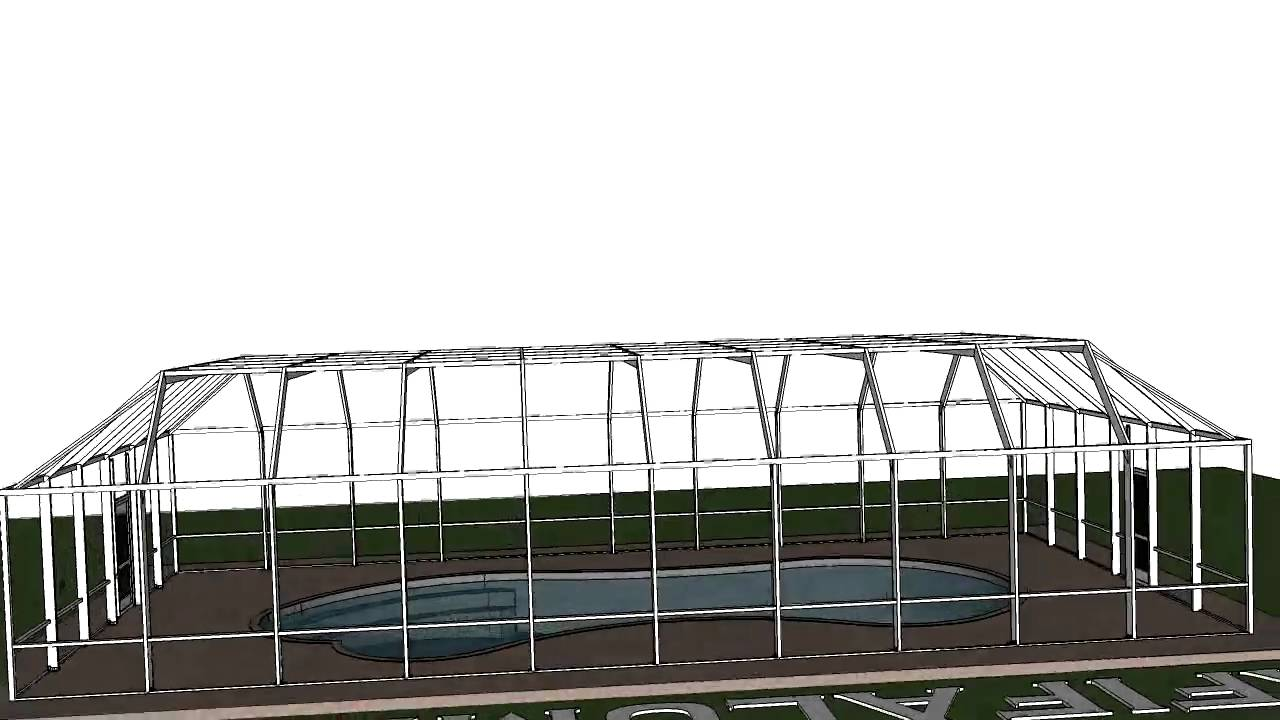 Sketchup 3d animation pool enclosure sections youtube for Pool design sketchup