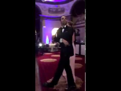 A man plays 'Bricks' by Gucci Mane as his wedding intro