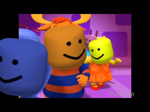The Backyardigans theme song but with the roblox death sound