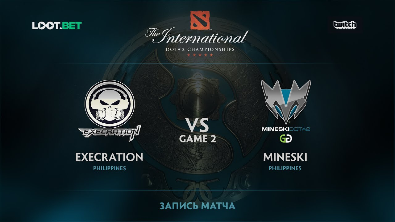 Mineski vs Execration, Game 2, The International 2017 SEA Qualifier
