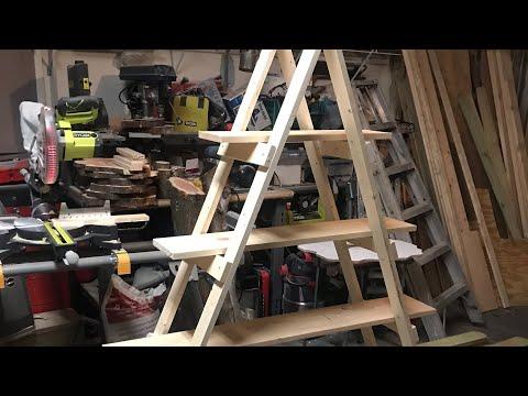 DIY Wood Ladder Shelf - by Karen Governale