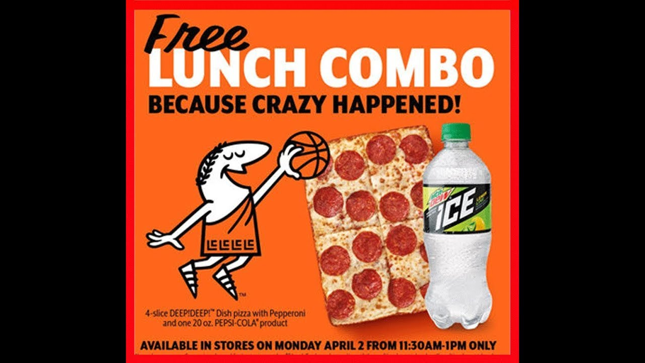 Little Caesars gives free pizza for lunch Monday