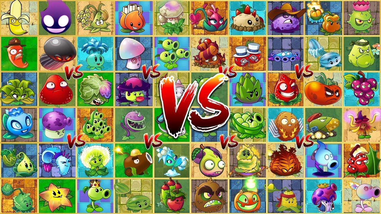 All Plants Vs Brickhead & Gargantuar Zombie - Who Will Win? - PvZ 2 Plant Vs Plant