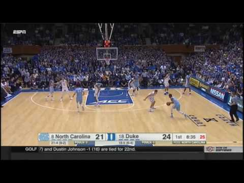 (NCAAM) #8 UNC at #18 Duke in 40 Minutes - 2/9/17