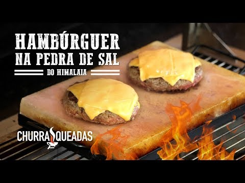 Hambúrguer na Pedra de Sal do Himalaia I Churrasqueadas