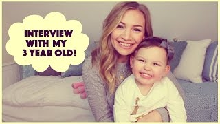 Interview with My Three Year Old! | Anna Saccone