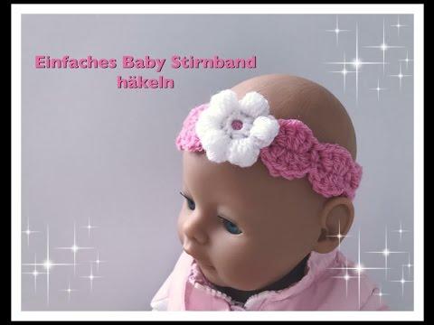 EINFACHES Baby/ Kinder Stirnband häkeln super für Anfänger geeignet ...