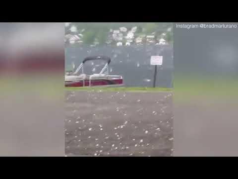 Ken Payne - Baseball Sized Hail Pummels Central Pennsylvania Town