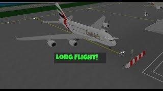 Roblox SFS Flight Simulator (Nuovo A380 Emirates,Lungo viaggio)