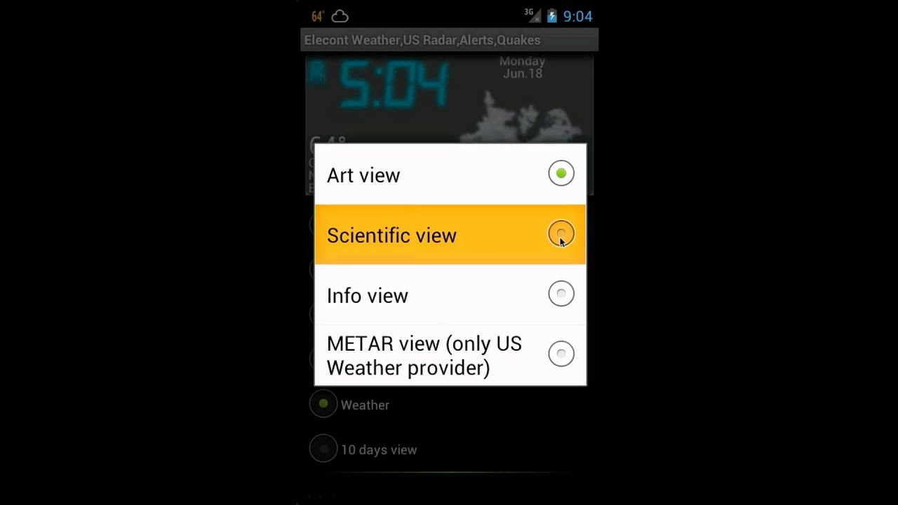 eWeather HD, Radar HD, Alerts, Earthquakes for Android
