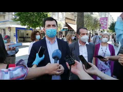 Gonzalo Caballero inició en Vigo las reuniones con los alcaldes socialistas