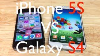 iPhone 5S Versus Galaxy S4   - Comparativas