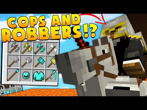 MEDIEVAL MODDED COPS AND ROBBERS HIDE AND SEEK MOD - Minecraft Mod (FUNNY MOMENTS)
