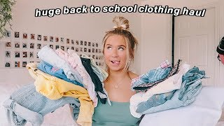 huge back to school try on clothing haul