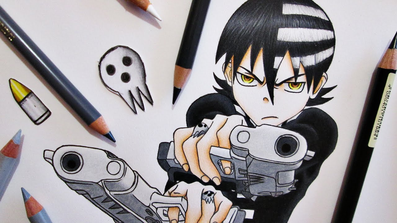 Speed Drawing Death the Kid || Soul Eater - YouTube