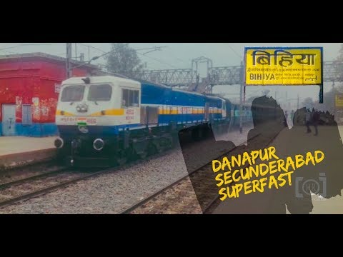 EMD gets WILD !!! Full Speed Danapur Secundrabad Superfast Thrashes BIHIYA Station !!