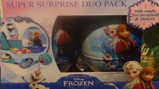 12 Disney Frozen Elsa & Anna DUO PACK Surprise Eggs Opening #123