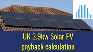 Does Solar PV pay for itself. Payback calculation on our 3.9kw array