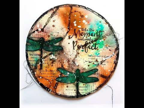 Mixed Media Art Journal Page Tutorial with Visible Image Stamps