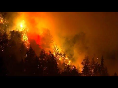 SANTA CRUZ MOUNTAIN WILDFIRE: Raw video of the wildfire burning in the Santa Cruz Mountains