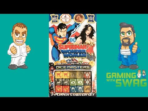 Dice Masters - DC Comics Superman and Wonder Woman - Unboxing And Review - Gaming With Swag