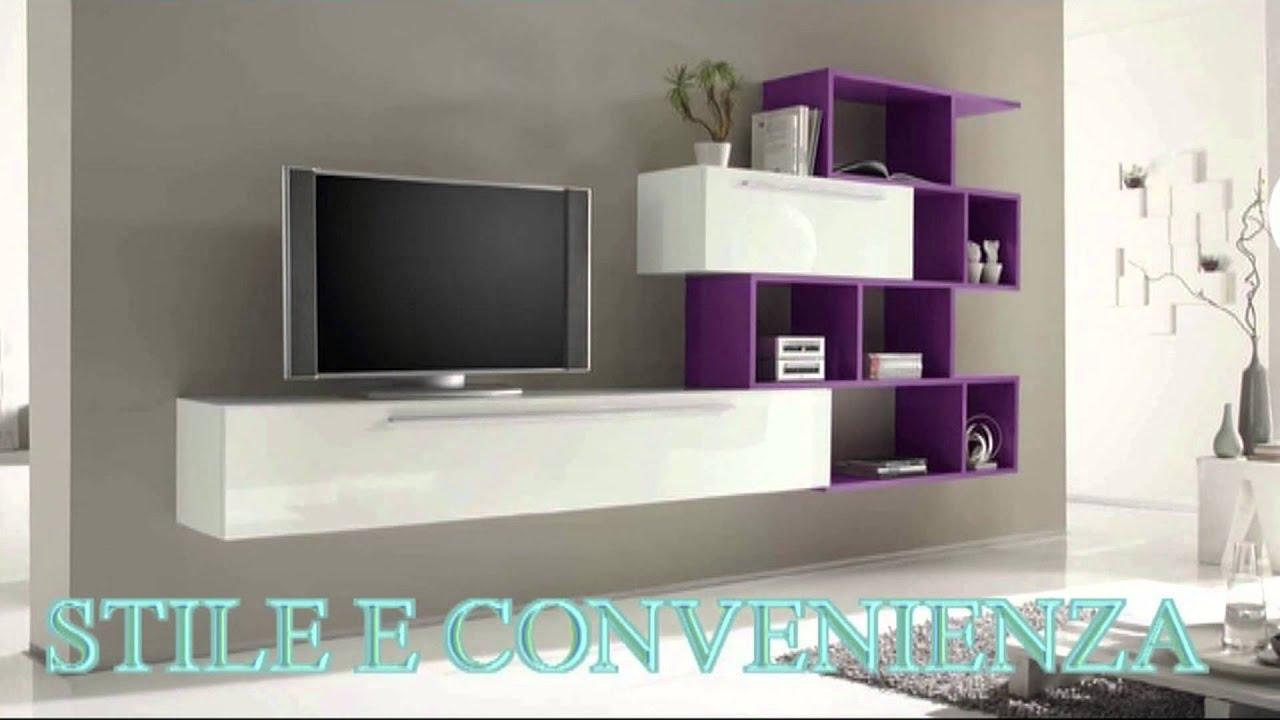 Soggiorni moderni pareti attrezzate youtube for Scavolini pareti attrezzate
